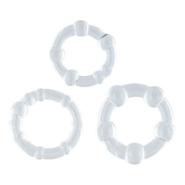 Toyz4lovers Dandy's Bangle Cock Ring Kit, прозрачный Набор эрекционных колец