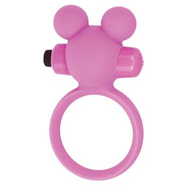 Toyz4lovers Silicone Teddy, розовое Эрекционное виброкольцо