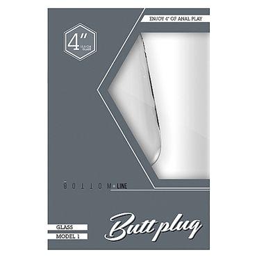Shots Toys Bottom Line Butt plug Model 1, 10 см прозрачная Анальная пробка