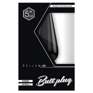 Shots Toys Bottom Line Butt plug Model 2, 13 см черная Анальная пробка