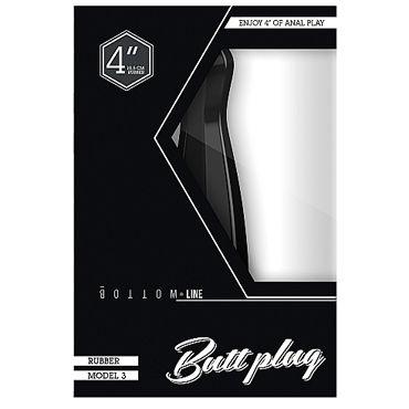 Shots Toys Bottom Line Butt plug Model 3, 10 см черная Анальная пробка