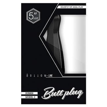 Shots Toys Bottom Line Butt plug Model 3, 13 см черная Анальная пробка