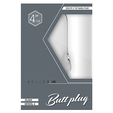 Shots Toys Bottom Line Butt plug Model 4, 10 см прозрачная Анальная пробка