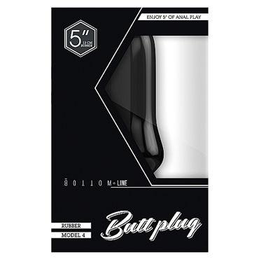 Shots Toys Bottom Line Butt plug Model 4, 13 см черная Анальная пробка