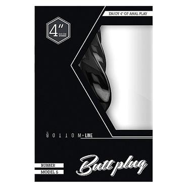 Shots Toys Bottom Line Butt plug Model 5, 10 см черная Анальная пробка