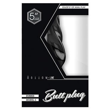 Shots Toys Bottom Line Butt plug Model 5, 13 см черная Анальная пробка
