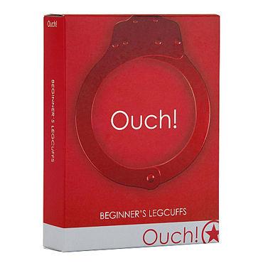 Ouch! Beginners Leg cuffs, красные Оковы для начинающих