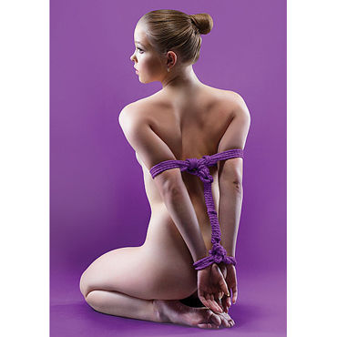 Ouch! Japanese Rope 5м, фиолетовая Нейлоновая веревка