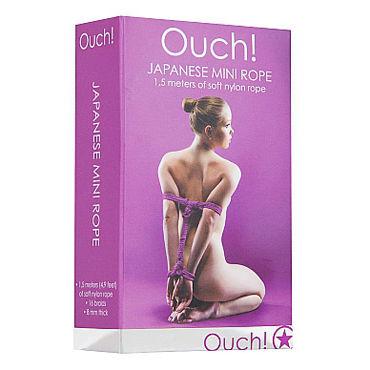 Ouch! Japanese Mini Rope, фиолетовая Нейлоновая веревка