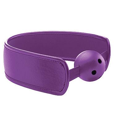 Ouch! Brace Ball Gag, фиолетовый Кляп с кожаным воротником