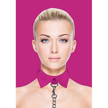 Ouch! Exclusive Collar & Leash, розовый Ошейник-воротник с поводком