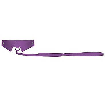 Ouch! Exclusive Collar & Leash, фиолетовый Ошейник-воротник с поводком