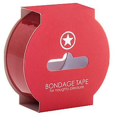 Ouch! Non Sticky Bondage Tape, красная Лента для бандажа