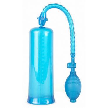 Shots Toys Dusky Power Pump, синяя Вакуумная помпа
