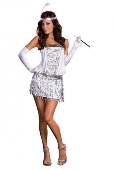Le Frivole Леди ретро Топ, юбка и перчатки