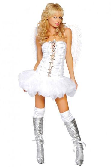 Le Frivole Белый Ангел Платье со шнровкой