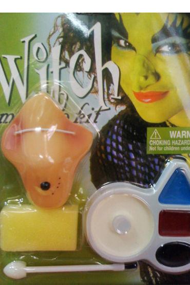 Le Frivole Грим Ведьмы Накладной нос, кисточка, спонж и краски