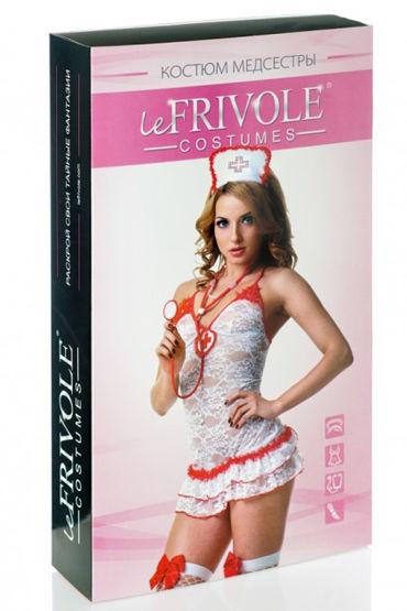 Le Frivole Костюм Медсестры Кружевной Платье, головной убор, стетоскоп, чулки