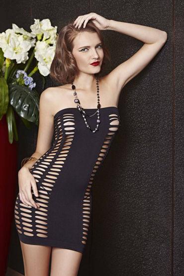 Le Frivole Платье без бретелей С прорезями