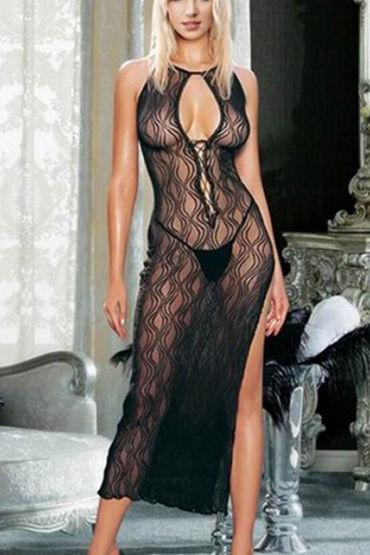 Le Frivole Длинное платье С волнистым рисунком