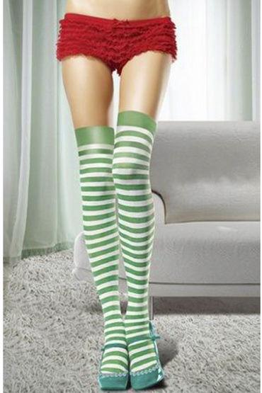Le Frivole Чулки Новогодние, зелено-белые Для новогоднего образа