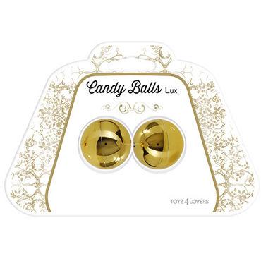 Toyz4lovers Candy Balls Lux, золотые Вагинальные шарики на гибкой сцепке