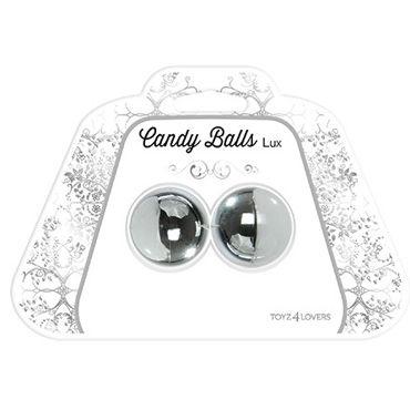 Toyz4lovers Candy Balls Lux, серебристые Вагинальные шарики на гибкой сцепке