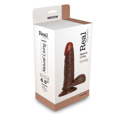 Toyz4lovers Dildo Real Rapture 19см, коричневый Фаллоимитатор-реалистик на присоске