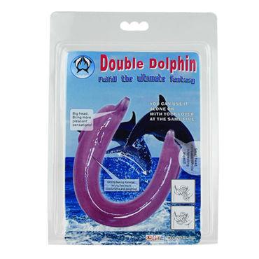 Baile Double Dolphin, фиолетовый Двойной фаллоимитатор