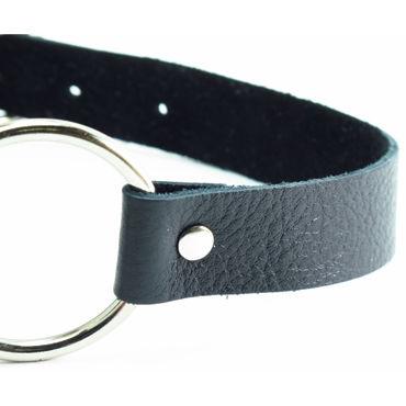 BDSM Арсенал кляп-кольцо, черный С пряжкой
