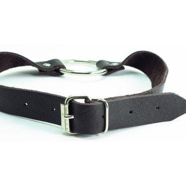 BDSM Арсенал кляп-кольцо, коричневый С пряжкой