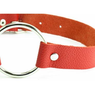 BDSM Арсенал кляп-кольцо, красный С пряжкой