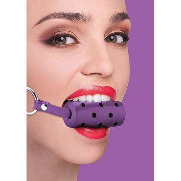 Ouch! Cylinder Gag, фиолетовый Кляп в форме цилиндра