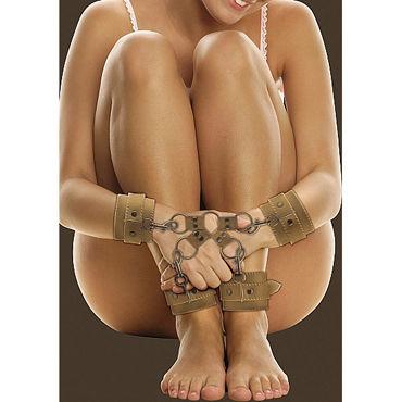 Ouch! Hogtie, коричневые Фиксаторы для ног и рук