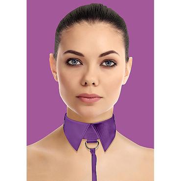 Ouch! Classic Collar with Leash, фиолетовый Ошейник-воротник с поводком