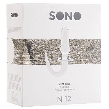 Shots Toys Sono Butt Plug №12, прозрачная Анальная пробка