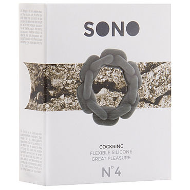 Shots Toys Sono Chain Cockring №4, серое Эрекционное кольцо