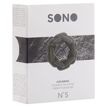 Shots Toys Sono Chain Cockring №5, серое Эрекционное кольцо