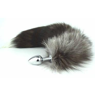 Luxurious Tail Металлическая анальная пробка, серебристая Королевская лиса