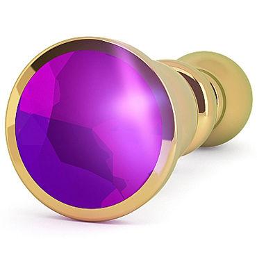 Shots toys Rich Gold Plug Purple Sapphire R2 Анальная пробка со стразом