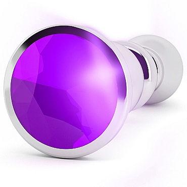 Shots toys Rich Silver Plug Purple Sapphire R2 Анальная пробка со стразом