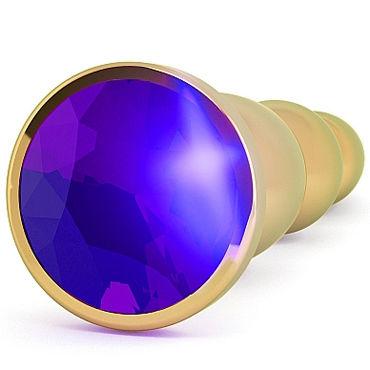 Shots toys Rich Gold Plug Purple Sapphire R3 Анальная пробка со стразом