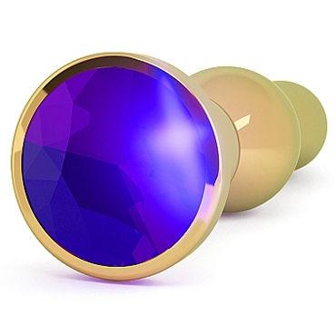 Shots toys Rich Gold Plug Purple Sapphire R4 Анальная пробка со стразом