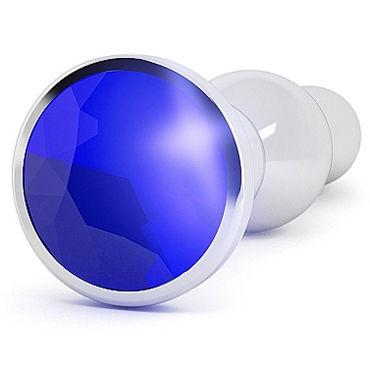 Shots toys Rich Silver Plug Purple Sapphire R4 Анальная пробка со стразом