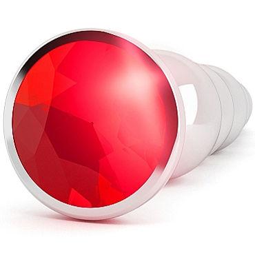 Shots toys Rich Silver Plug Red Sapphire R5 Анальная пробка со стразом