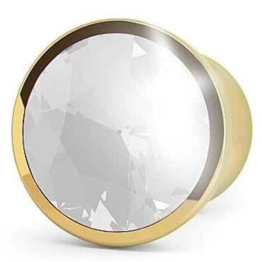 Shots toys Rich Gold Plug Clear Sapphire R6 Анальная пробка со стразом