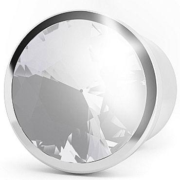 Shots toys Rich Silver Plug Clear Sapphire R6 Анальная пробка со стразом