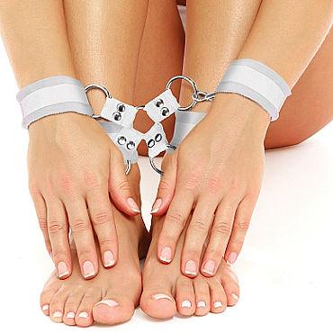 Ouch! Velcro Hand And Leg Cuffs, белый Комплект для бандажа