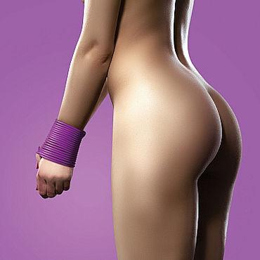 Ouch! Silicone Rope 5м, фиолетовая Силиконовая веревка