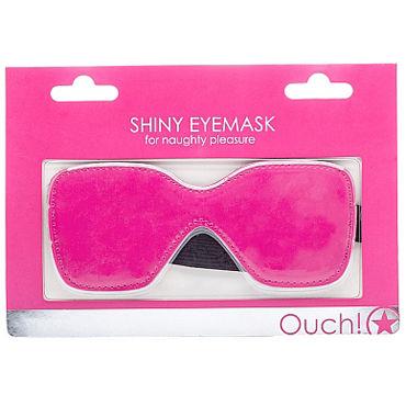 Ouch! Shiny Eyemask, розовая Маска на глаза